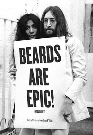 life4beard.ru Джон Леннон с бородой и йоко оно