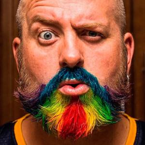 цветная-борода-хипстер   life4beard.ru мужчина с бородой