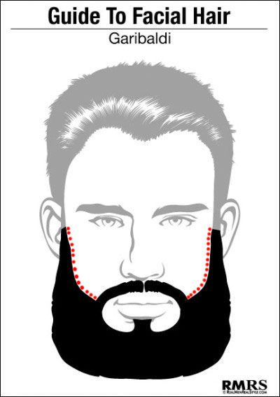 линия-щек garibaldi beard гарибальди борода
