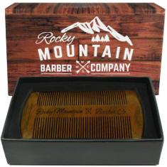 life4beard.ru rocky-mountain-beard-comb-sandalwood деревянная гребенка для бороды и усов ручной работы из сандалового дерева
